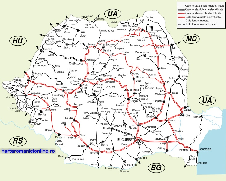 Harta Cailor Ferate Cfr Din Romania