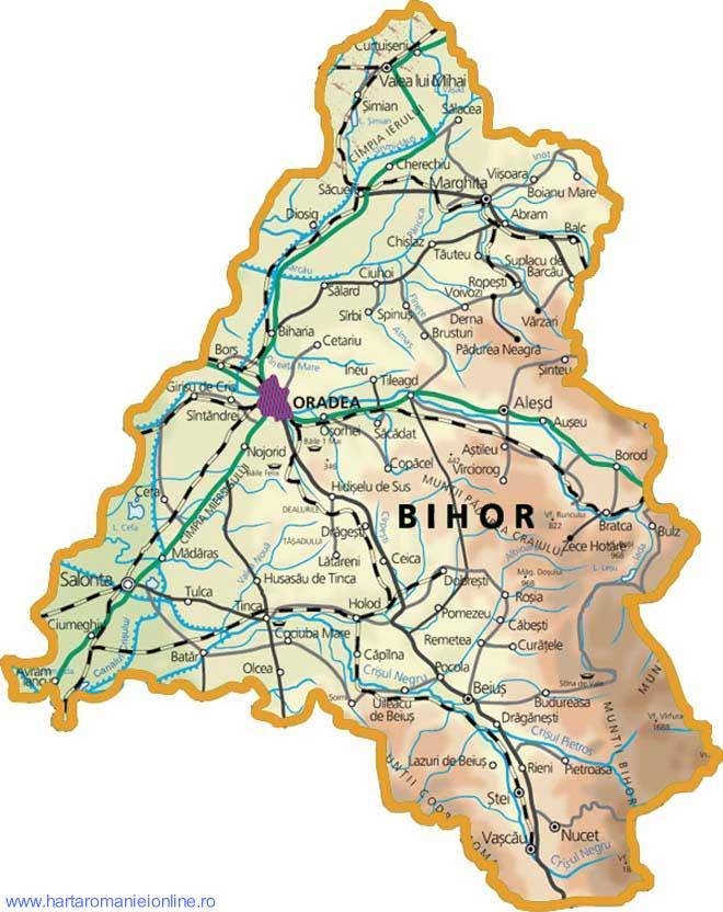 Harta Judet Bihor
