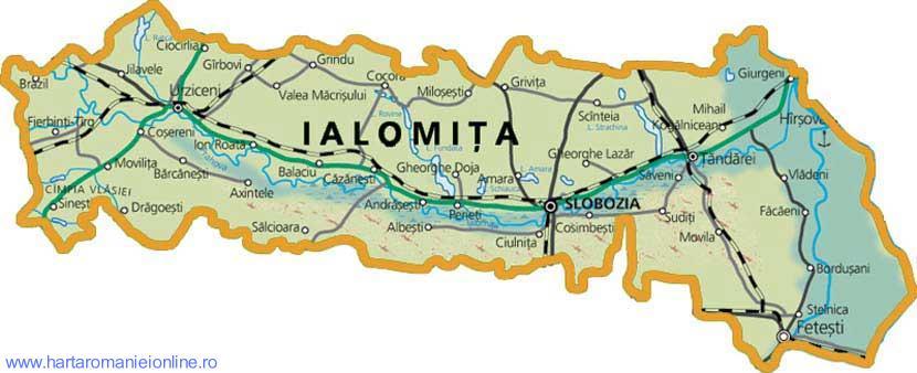 Harta judetului Ialomita