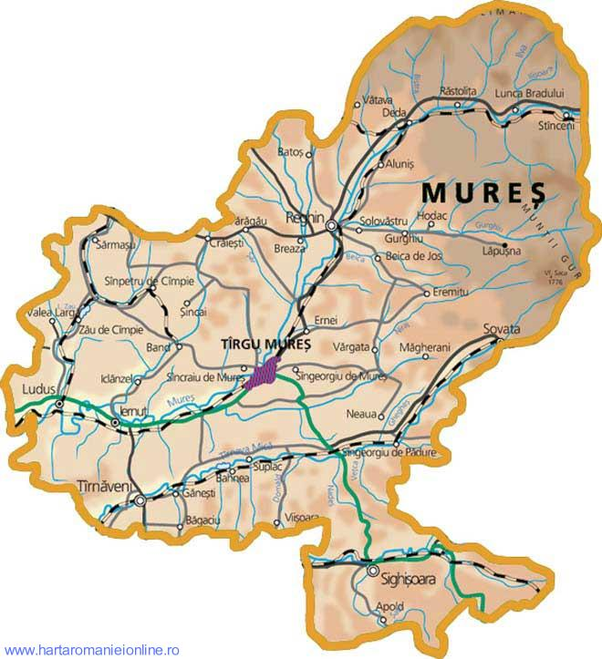 Harta Judet Mures