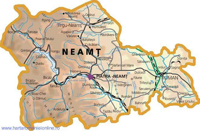 Harta Judet Neamt