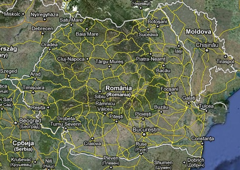 Harta Romaniei Din Satelit Harta